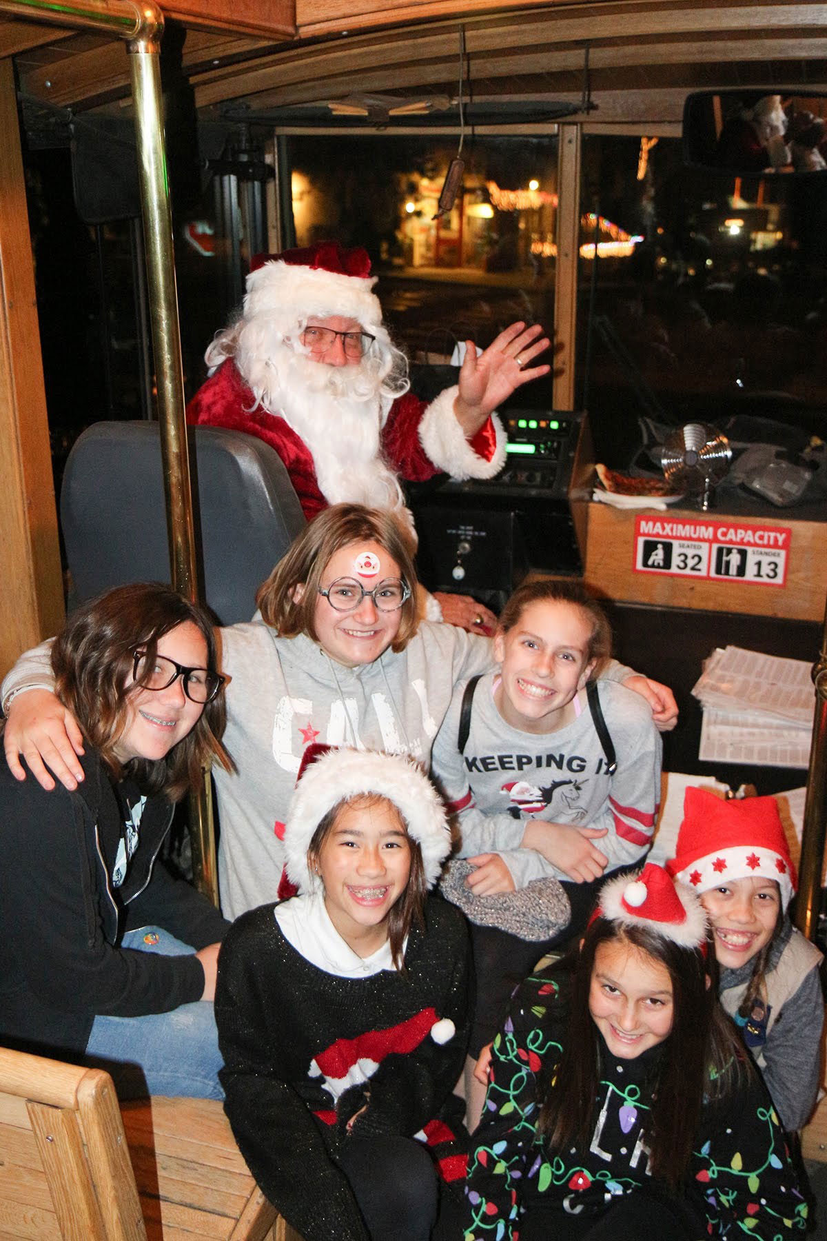 Girl Scouts with Santa
